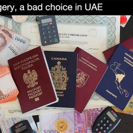 Forgery, a bad choice in UAE