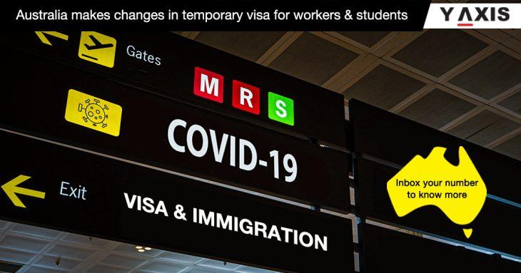 coviD-19 Aus temporary visa changes