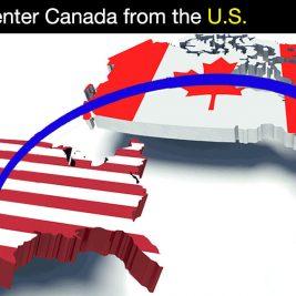 Cross Canada-US border