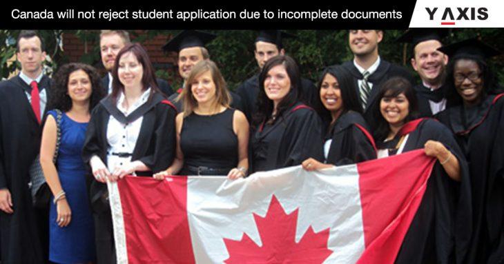 Canada accept incomplete study permit