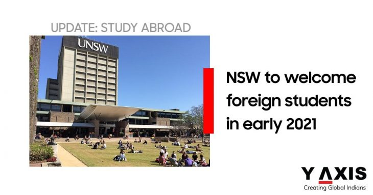 NSW to welcome foreign students early 2021