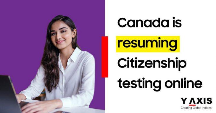 Canada resume online citizenship testing