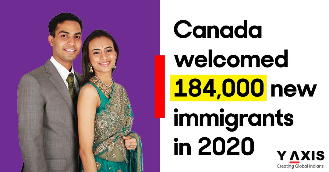 Canada welcomed 184,000 new immigrants in 2020