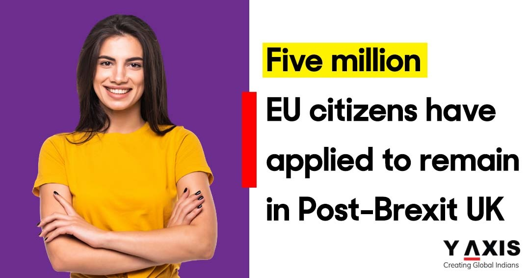 Five million EU citizens have applied to remain in Post-Brexit UK