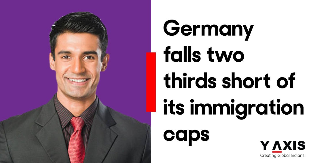Germany falls two thirds short of its immigration caps