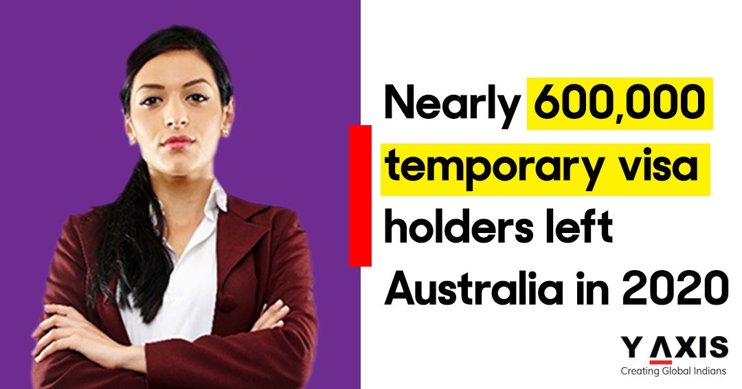 Nearly 600,000 temporary visa holders left Australia in 2020