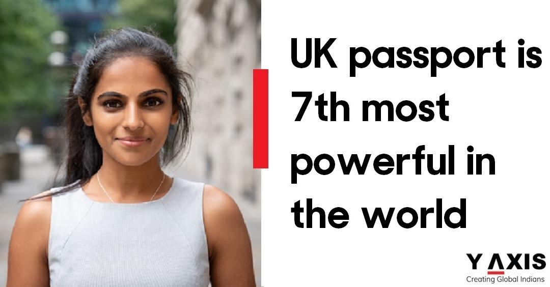 UK passport, one of the world's most powerful passports, ranks 7th globally
