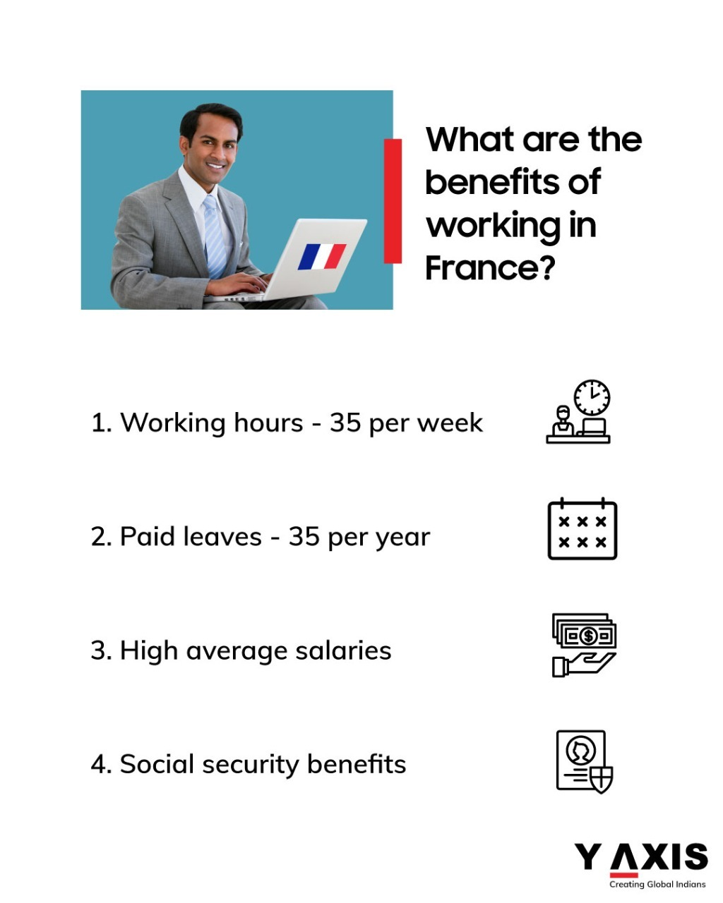 The benefits you will get if you work in France